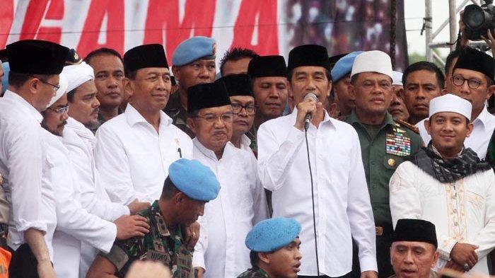 Hadiri Aksi 212, Jokowi Dianggap Ksatria