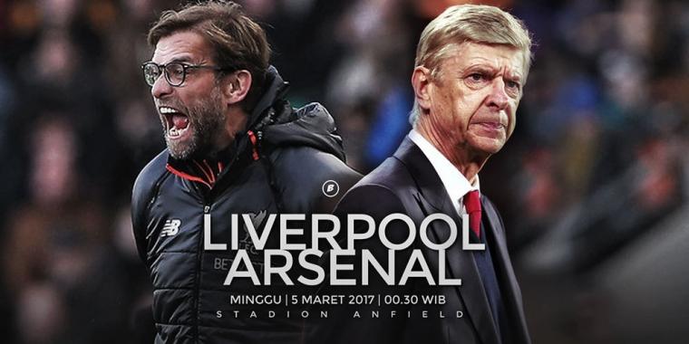 Liverpool vs Arsenal, Laga Penjaga Asa Klopp dan Wenger