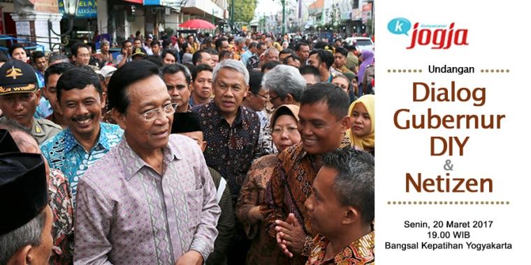 [KJOG] Undangan Dialog Gubernur DIY & Netizen