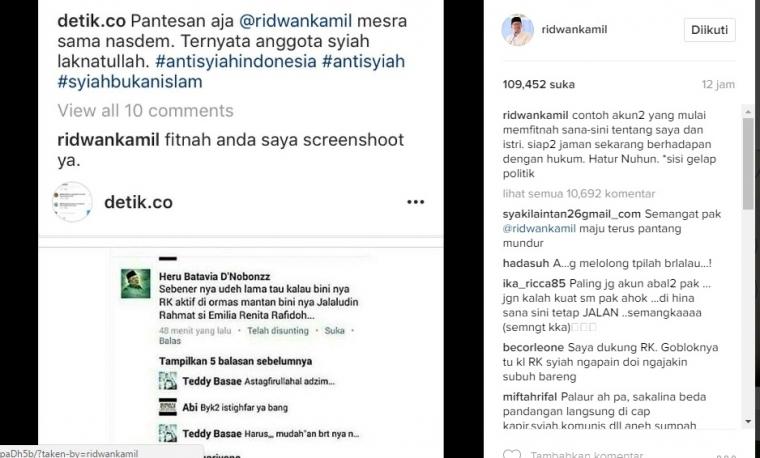 Ridwan Kamil Pun Difitnah