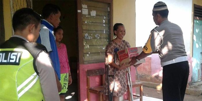 Polantas Mura Peduli Terhadap Mantan Korban Kecelakaan Lalu Lintas