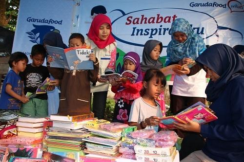 Relawan GarudaFood Sehati Berikan Motivasi dan Semangat ke Anak-Anak Marjinal