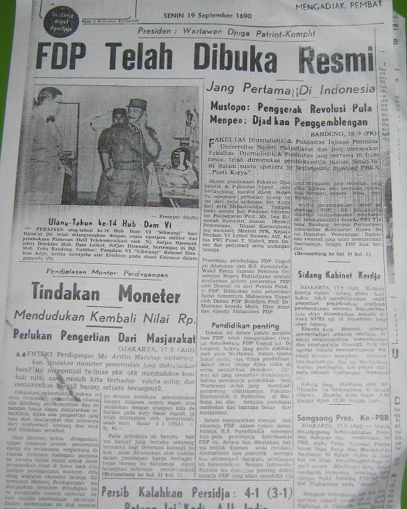 Bandung 1960 | Berdirinya Fakultas Djurnalistik dan Publisitas Unpad di Tengah Tekanan pada Pers