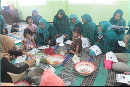 Pelatihan Pembuatan Ice Cream Dengan Prinsip Koloid Pelindung Pada Ibu Pkk Desa Sukoraharjo
