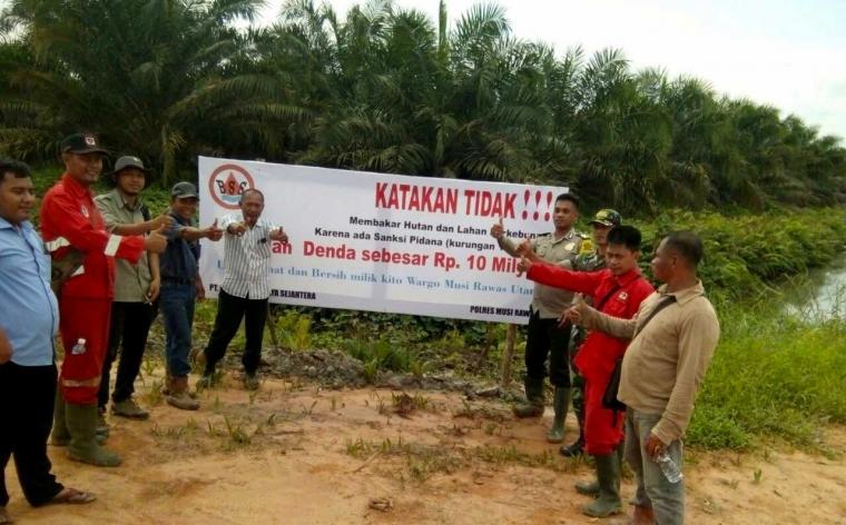 Kapolres Musi Rawas : Katakan Tidak Membakar Hutan Dan Lahan