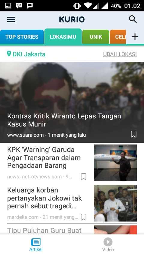 Update ala Kurio: Ketika Aplikasi Menginformasikan Indonesia
