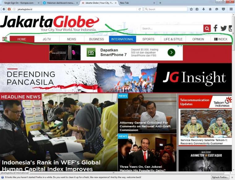 Review Analisis Portal Berita Jakartaglobe.id