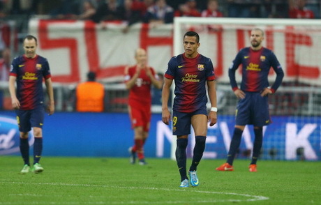 Ketika Semua Bergantung Pada Messi, Barca Digilas Panser Muenchen 0-4