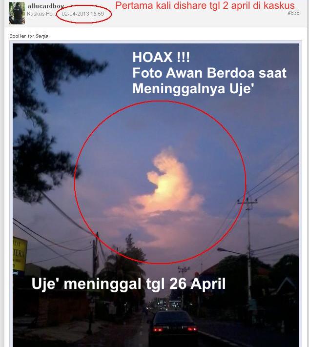 Hoax!!! Awan Berdoa Saat Meninggalnya Ust. Uje