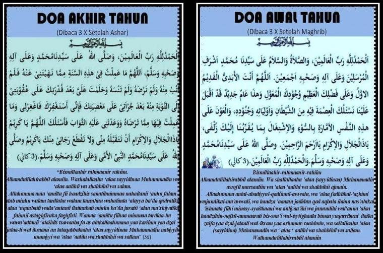 Doa Akhir Tahun 1434 Hijriyah dan Doa Awal Tahun 1435 Hijriyah