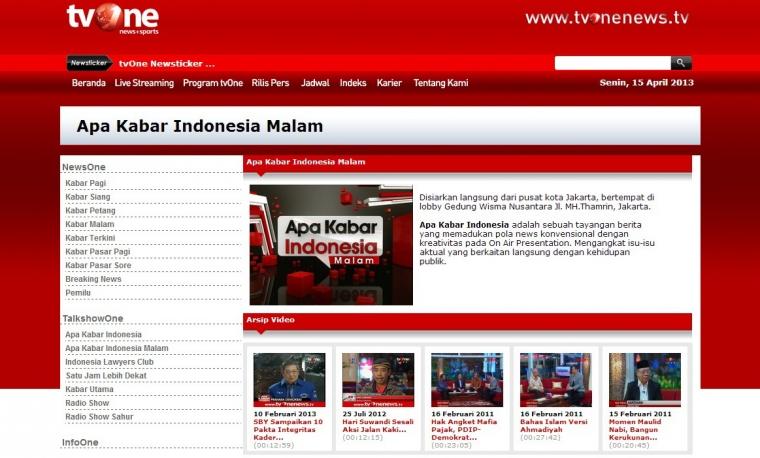 Teguran KPI Untuk 4 Program Berita TV One, Masalah Independensi atau Kebandelan Redaksi?