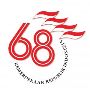 Logo HUT ke-68 Republik Indonesia Masih Monoton