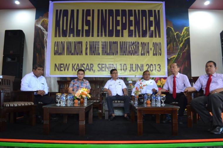 Calon Walikota Makassar Berkoalisi Bersama Para Kandidat Jalur Independent