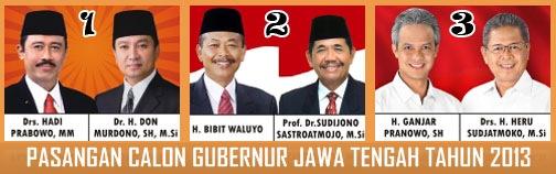Tiga Banteng di Adu Pilgub Jateng 2013
