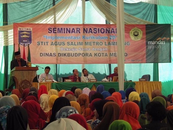 """STIT Agus Salim dan Dinas Pendidikan Metro Gelar Seminar Nasional """"Implementasi Kurikulum 2013"""""""