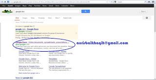 Cara Menyimpan dan Sharing Dokumen File di Google Docs