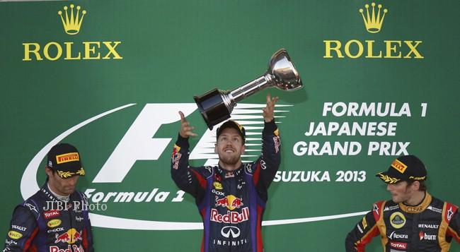 Vetel Selangkah Menuju Juara Dunia GP F1 2013