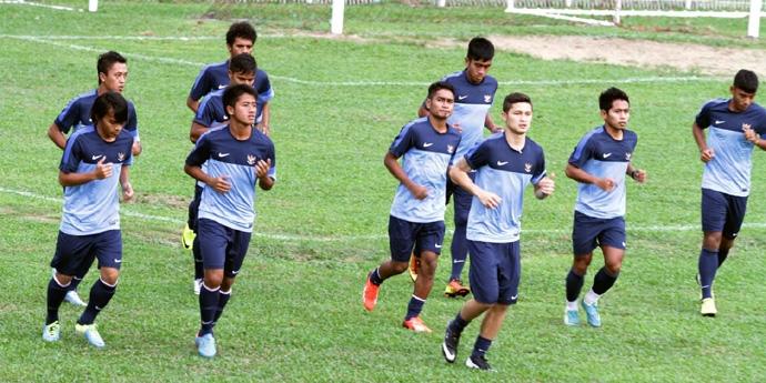 ISG 2013: Skuad Garuda U23 Latihan Perdana di Palembang, Hehhe..