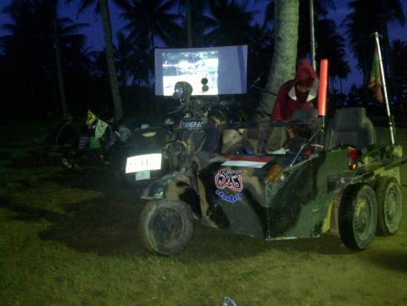 Jambore Vespa di Pantai Manggar