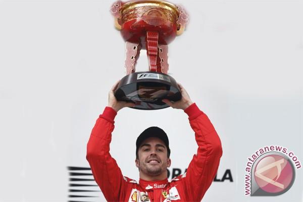 Alonso Podium 1 GP Formula1 Spanyol 2013
