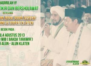 Klaten Bersholawat bersama Habib Syekh