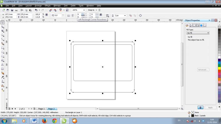 Membuat Frame untuk Foto dengan Corel Draw