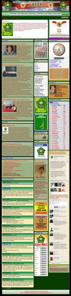 Website Madrasah MK2MI Provinsi Jawa Barat