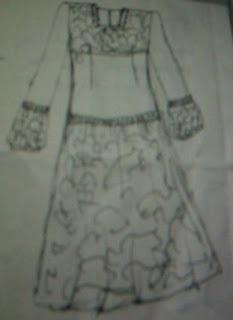 Cara Mudah Membuat Pola Gaun