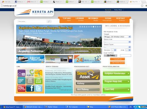 Mencoba Reservasi Online www.kereta-api.co.id