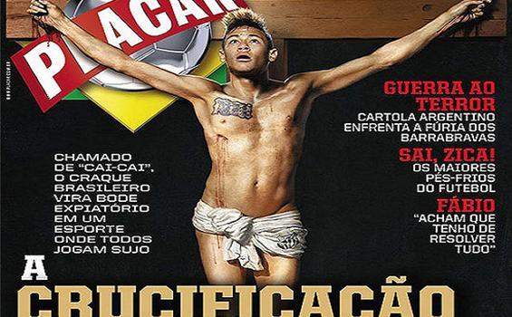 Gambar Neymar Disalib Menuai Protes Umat Kristen