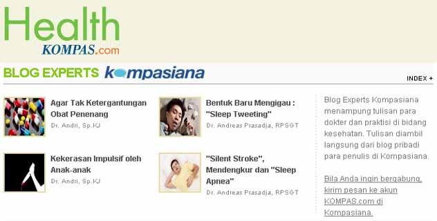 KOMPAS.com Hadirkan Blog Experts Kompasiana