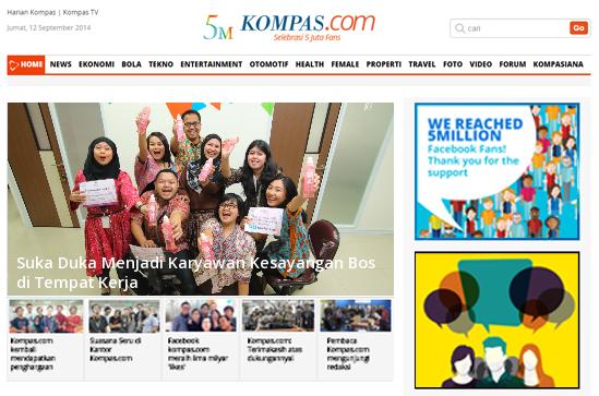 Sekarang Semua Bisa Masuk Headline Kompas.com