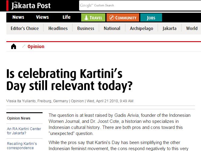Kartini Day vs Kartini's Day.. yang Betul yang Mana Yaaa?