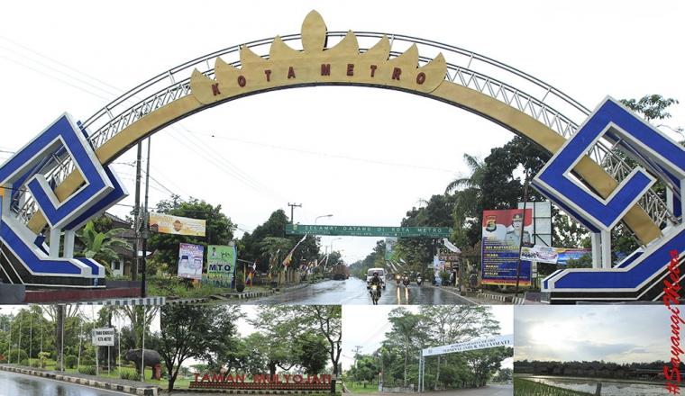 Tugu Selamat Datang Kota Metro Lampung