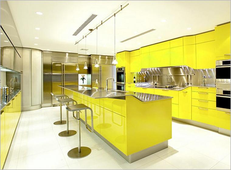 Desain Interior Dapur Dengan Warna Kuning Oleh Teguh Nugroho