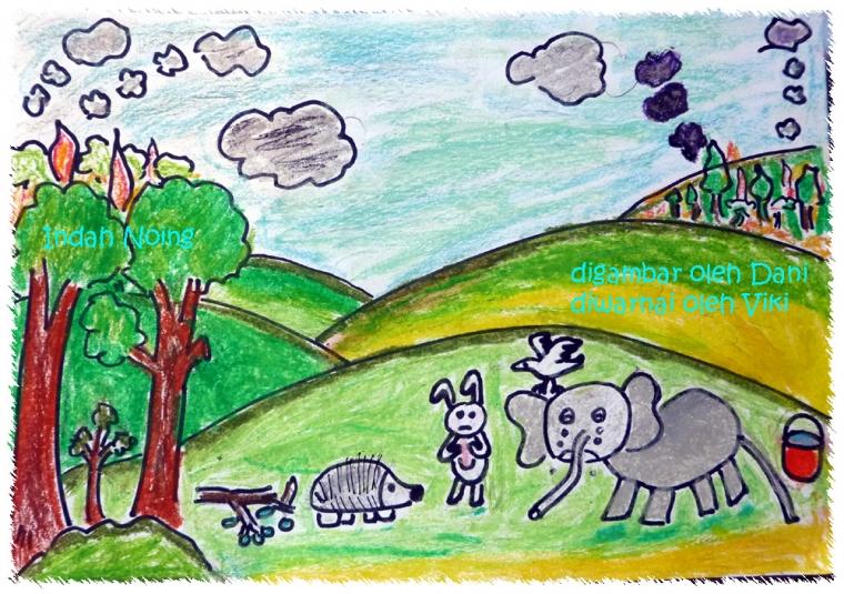 Fabel Kisah Sedih Persahabatan Anak Binatang Akibat Kebakaran Hutan