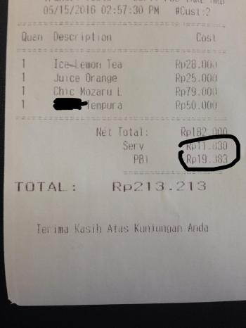 Jangan Kaget Bila Membayar Pajak Restoran Pb1 Seperti Ini