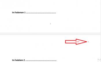 cara membuat halaman pada lembar kerja microsoft word 2007