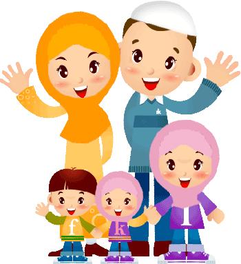 Kata Kata: gambar animasi ayah ibu dan anak perempuan ...