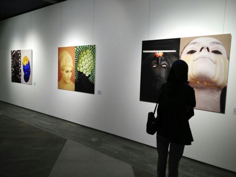Lukis Wajah Pakai Bahan Makanan, Seniman Perancis ini Hadir di Bandung