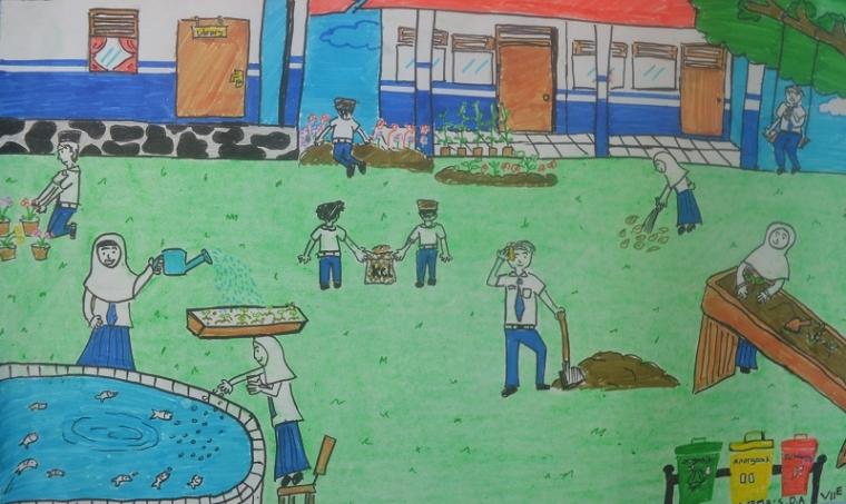 Lukisan Siti Desy Aulia Siswa Kelas Vii E Mtsn Angkinang Kompasiana Com