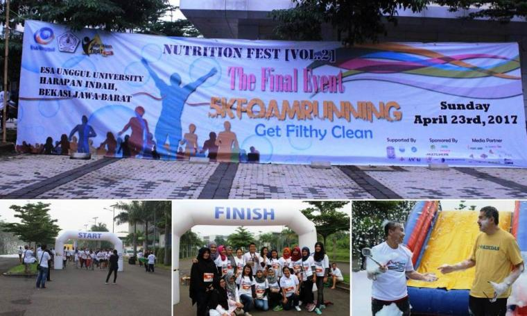 Esa Unggul Gelar 5k Running di Bekasi