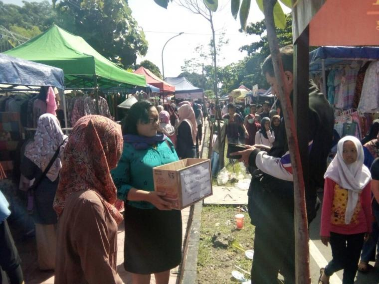 Srikandi Sriwijaya Aksi di Sunday Morning Yogyakarta