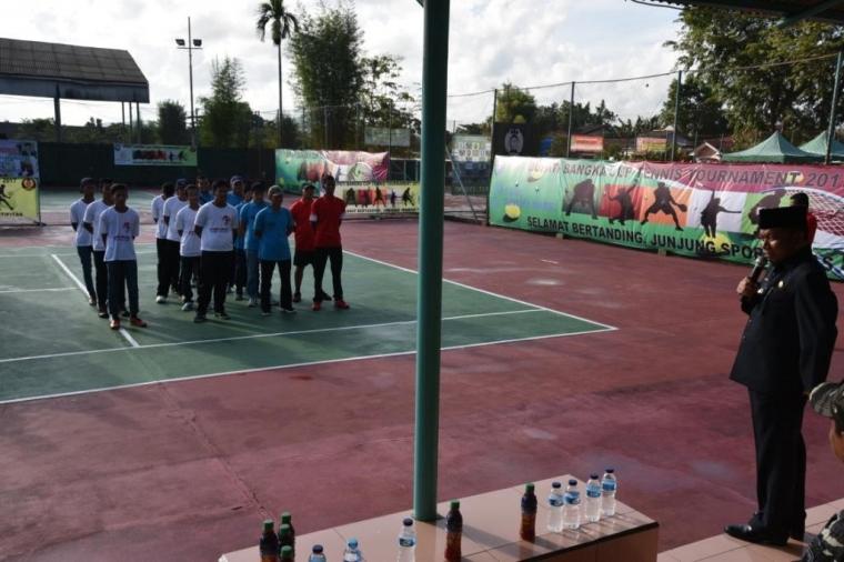 120 Atlet Mengikuti Open Turnamen Tenis Bupati Bangka Cup 2017