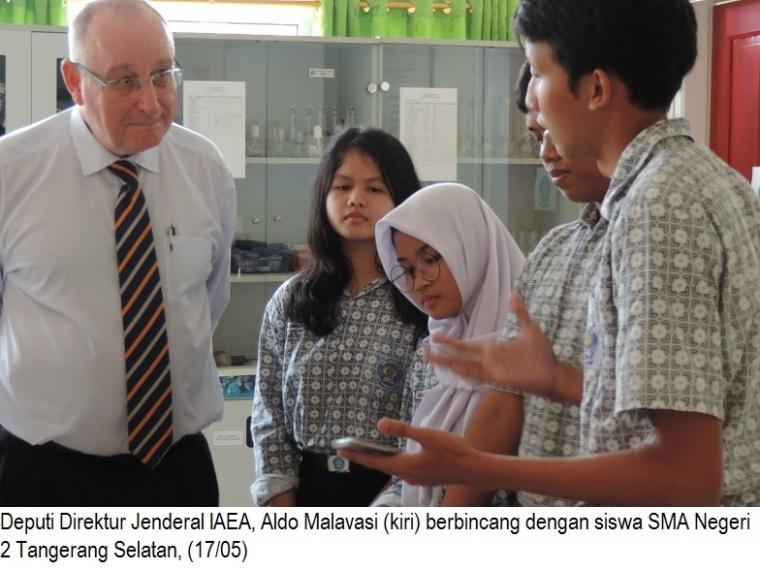 DDG IAEA Kunjungi SMA Negeri 2 Tangsel