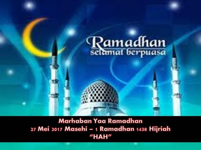 Marhaban Yaa Ramadan 1438-2017