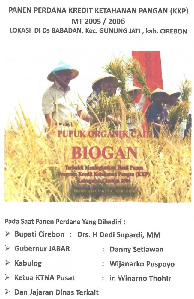 Menuju Desa Swasembada Pangan dan Desa Maju dengan Teknologi Organik Cair Biogan
