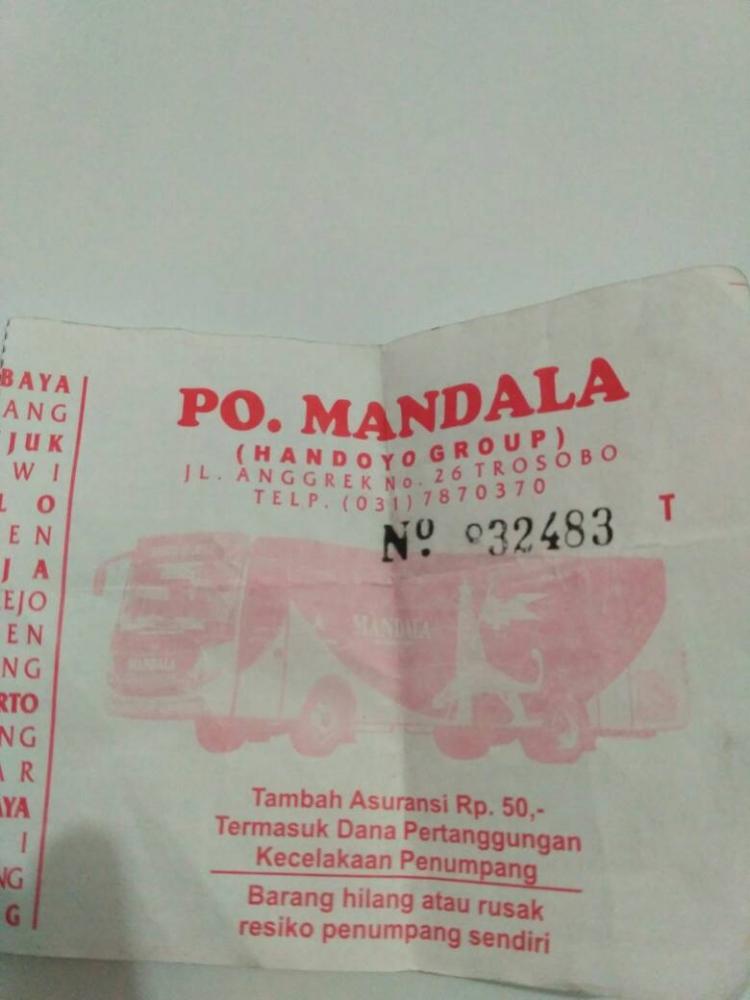 Kehilangan di Dalam Otobus Handoyo Group