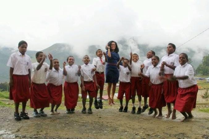 Kristina, Gadis Batak Pejuang Literasi di Papua