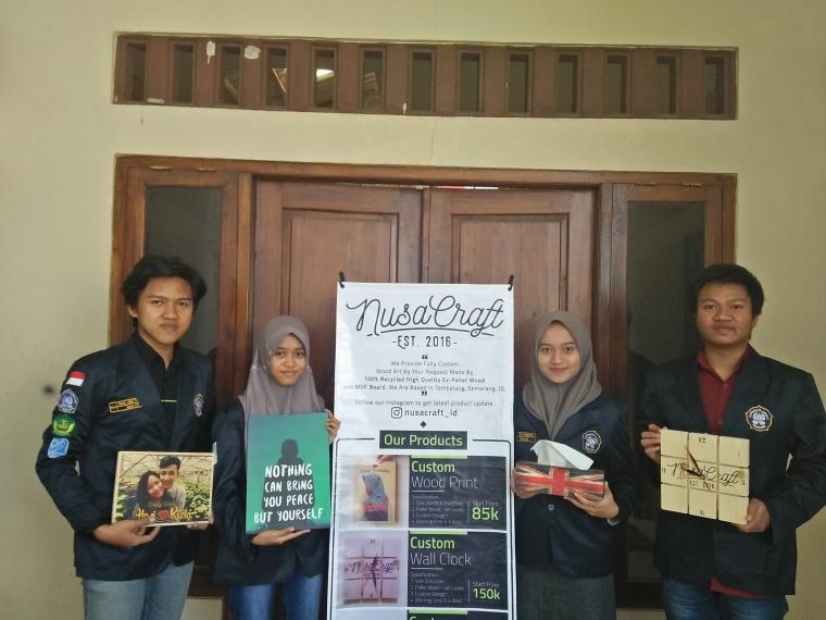 Wood Print, Solusi Souvenir Anti-Mainstream dari Mahasiswa Polines